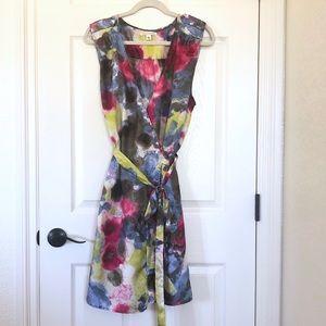 Banana Republic watercolor silk wrap dress size XL